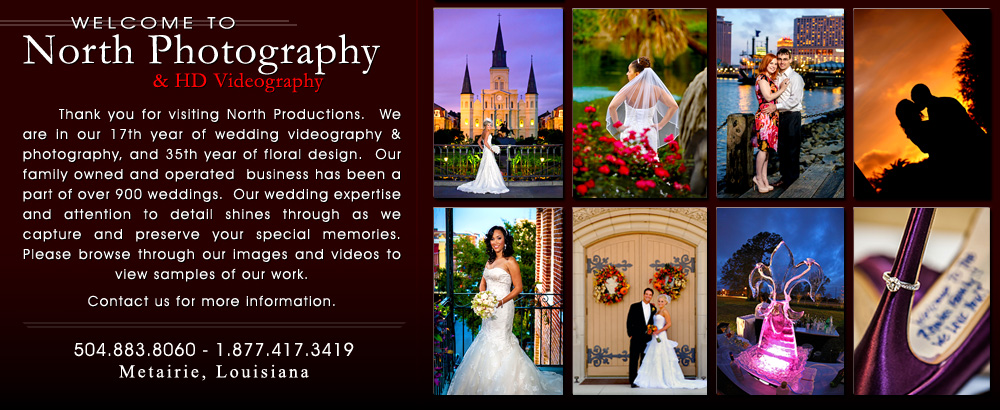 North Photography High Definition Videography New Orleans Wedding Fl Design